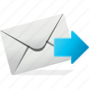chat, communication, email, forward, logo, next icon