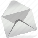 chat, communication, email, inbox, logo, open, sign icon