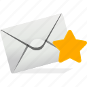 communication, email, envelope, inbox, logo, send, star icon