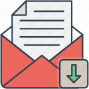 download, email, mail, received icon icon