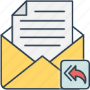 email, envelope, forward, mail icon icon