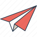 fly, paper plane, send icon icon