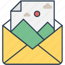 email, envelope, image, mail, photo, picture icon icon