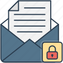 email, envelope, lock, mail, message, private icon icon