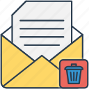 bin, delete, envelope, mail, packet, recycle, trash icon icon