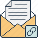 communication, email, letter, link, mail, message icon icon