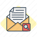 email, mail, search icon icon
