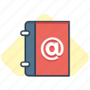 address, addresses, book, email, mail icon icon