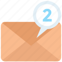 email, envelope, letter, mail, new, notification, recieve icon icon