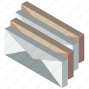 group, iso, isometric, mail, post icon