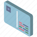 card, iso, isometric, mail, post icon