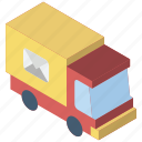delivery, iso, isometric, mail, post, truck