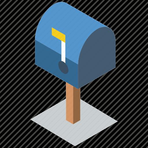 box, iso, isometric, mail, post icon