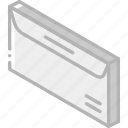 envelope, iso, isometric, mail, post