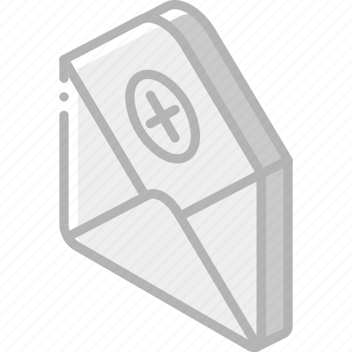 Delete, iso, isometric, mail, post icon - Download on Iconfinder