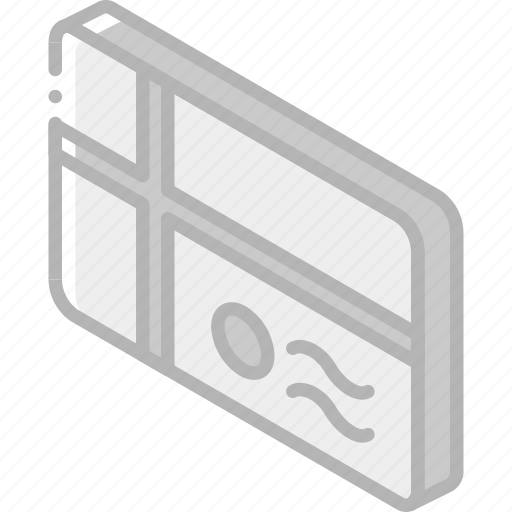 iso, isometric, mail, parcel, post icon