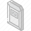 envelope, hard, iso, isometric, mail, post icon