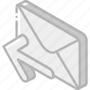 iso, isometric, mail, post, send