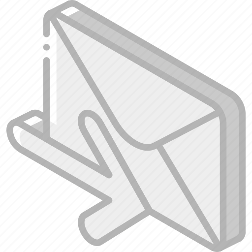 iso, isometric, mail, post, receive icon
