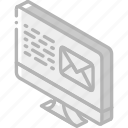 email, iso, isometric, mail, post icon