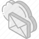 cloud, iso, isometric, mail, post icon