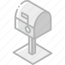 box, iso, isometric, mail, post