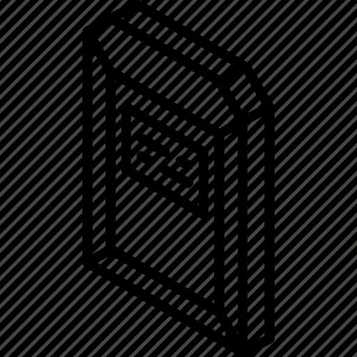 envelope, hard, iso, isometric, mail, post icon