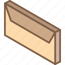 envelope, iso, isometric, mail, post