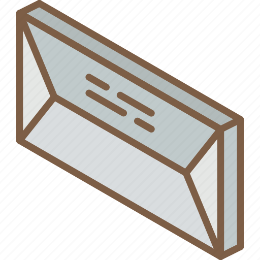 Envelope, iso, isometric, mail, post icon - Download on Iconfinder