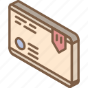 iso, isometric, mail, package, post
