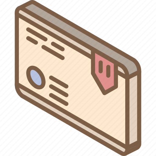 iso, isometric, mail, package, post icon