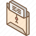 iso, isometric, mail, open, post