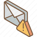 iso, isometric, mail, post, urgent icon