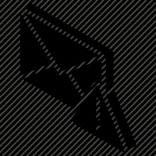 iso, isometric, mail, post, urgent icon
