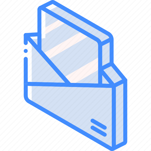 Iso, isometric, mail, open, post icon - Download on Iconfinder