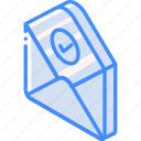 checked, iso, isometric, mail, post