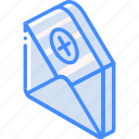 mail, isometric, iso, post, delete
