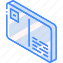 mail, isometric, iso, post, card