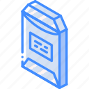 envelope, iso, isometric, mail, open, post