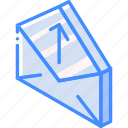 iso, isometric, mail, post, upload