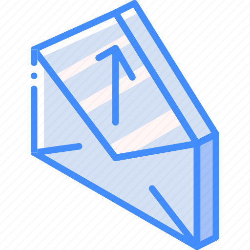 iso, isometric, mail, post, upload icon