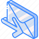 iso, isometric, mail, post, receive