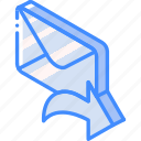 forward, iso, isometric, mail, post icon