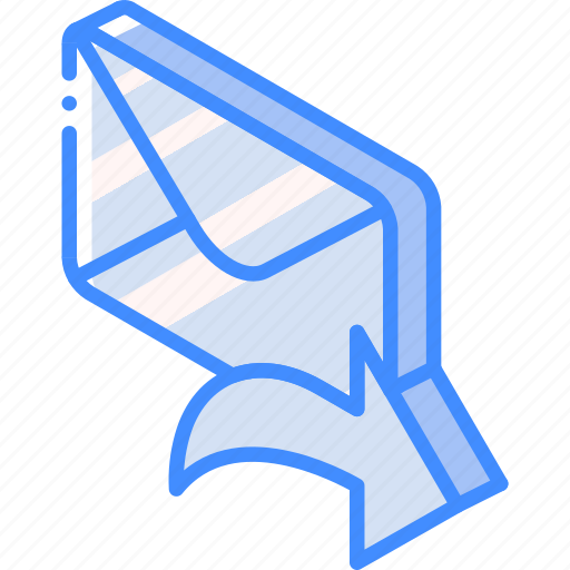 Forward, iso, isometric, mail, post icon - Download on Iconfinder