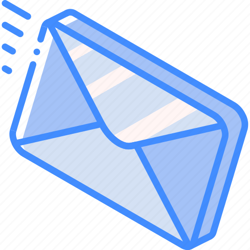 Iso, isometric, mail, post, send icon - Download on Iconfinder