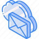 cloud, iso, isometric, mail, post