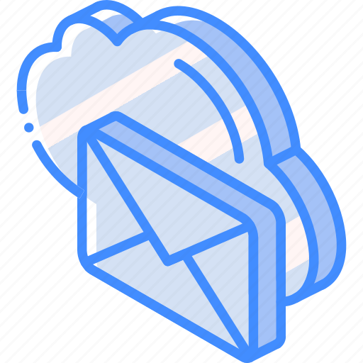 Cloud, iso, isometric, mail, post icon - Download on Iconfinder
