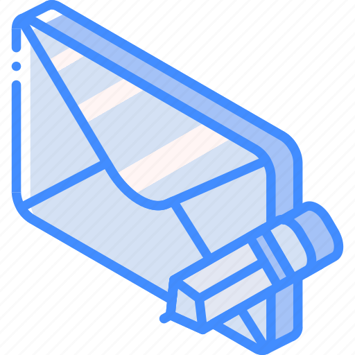 Iso, isometric, mail, post, write icon - Download on Iconfinder
