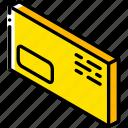 envelope, iso, isometric, mail, post, window icon
