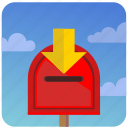 inbox, letters, mailbox, message, post, postbox icon
